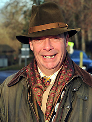 © Licensed to London News Pictures. 26/12/2016<br /> Nigel Farage arriving at todays hunt.<br /> Boxing Day Hunt.<br /> Old Surrey Burstow and West Kent Hunt at Chiddingstone Castle, Chiddingstone in Kent.<br /> Photo credit :Grant Falvey/LNP