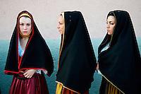 Italie, Sardaigne, Region de Nuoro, Village de Lula, Procession du Corpus Domini. // Italy, Sardinia, Nuoro area, Lula village, Corpus Domini procession.