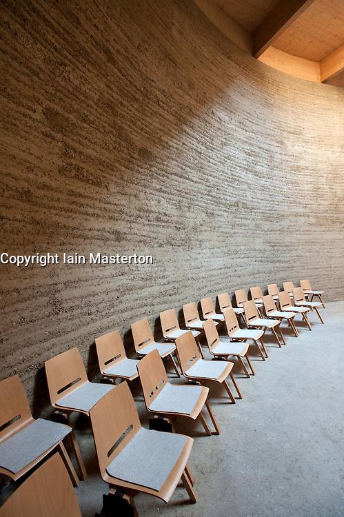 Interior of new Chapel of Reconciliation near former Berlin Wall in Bernauer Strasse Berlin