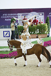 RSV Neuss-Grimlinghausen Team, (GER), Delia FRH<br /> Female Squad Final Freestyle Test<br /> FEI European Championships - Aachen 2015<br /> © Hippo Foto - Dirk Caremans<br /> 23/08/15
