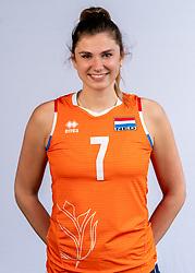 Juliet Lohuis of Netherlands, Photoshoot selection of Orange women's volleybal team season 2021on may 12, 2021 in Arnhem, Netherlands (Photo by RHF Agency/Ronald Hoogendoorn)