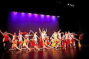Dance Wisconsin dancers rehearse Georgia at Madison College in Madison, Wisconsin on October 12, 2012.