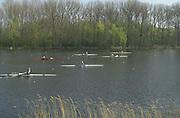 Photo. © Peter Spurrier/Intersport Images.14/04/2004  - 2004 GBR Rowing Trail.Hazewinkel Belgium..... ..[Mandatory Credit Peter Spurrier/ Intersport Images] Rowing Course, Bloso, Hazewinkel. BELGUIM