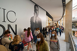 Edinburgh, Scotland, UK. 24 June 2021. First images of the new St James Quarter which opened this morning in Edinburgh. The large retail and residential complex replaced the St James Centre which occupied the site for many years. Pic; Mall busy with shoppers at lunchtime. Iain Masterton/Alamy Live News