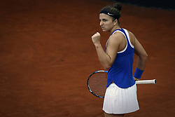 February 11, 2018 - Chieti, CH, Italy - Sara Errani of Italy team during 2018 Fed Cup BNP Paribas World Group II First Round match between Italy and Spain at Pala Tricalle ''Sandro Leombroni'' on February 11, 2018 in Chieti, Italy. (Credit Image: © Danilo Di Giovanni/NurPhoto via ZUMA Press)
