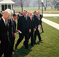 President Lyndon Johnson  with the Executive Committee of Governors on the South Lawn in March 1969<br /><br />Photo by Dennis Brack bb72