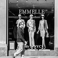 Mannequins are checking out the passers-by at Emmelle on Madison Avenue