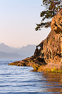 Heart shaped rock in the sandstone formations at Biggs Park in Nanaimo, British Columbia, Canada