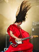 Bo Ningen play the Lake Stage. The 2013 Latitude Festival, Henham Park, Southwold, Suffolk, UK. July 2013.