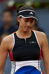 May 9, 2018 - Madrid, Madrid, Spain - Garbine Muguruza of Spain reacts in her match against Daria Kasatkina of Russia during day five of the Mutua Madrid Open tennis tournament at the Caja Magica on May 9, 2018 in Madrid, Spain  (Credit Image: © David Aliaga/NurPhoto via ZUMA Press)