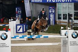Farrington Kent, USA, Sherkan d'Amaury<br /> CSI 5* Prijs Flandria Rent<br /> Jumping Antwerpen 2017<br /> © Hippo Foto - Dirk Caremans<br /> 20/04/2017