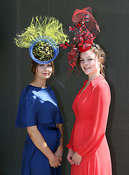 Kody Brooks (left) and Harriet Finlayson poses for photographs on day three of Royal Ascot at Ascot Racecourse.