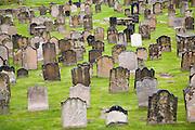 Eighteenth and nineteenth century gravestones at Tynemouth priory, Northumberland, England