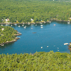 Aerial views of the Bar Harbor area of Maine
