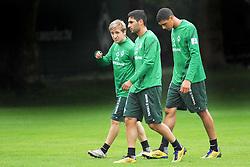16.08.2011, Trainingsgelaende, Bremen, GER, 1.FBL, Training Werder Bremen, im Bild Marko Marin (Bremen #10), Mehmet Ekici (Bremen #20) und Leon-Aderemi Balogun (Bremen #37) // during training session from Werder Bremen on 2011/08/16, Trainingsgelaende Werder Bremen, Bremen, Germany. EXPA Pictures © 2011, PhotoCredit: EXPA/ nph/  Gumz       ****** out of GER / CRO  / BEL ******