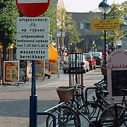 Bord Kerkstraat Huizen verboden in te rijden