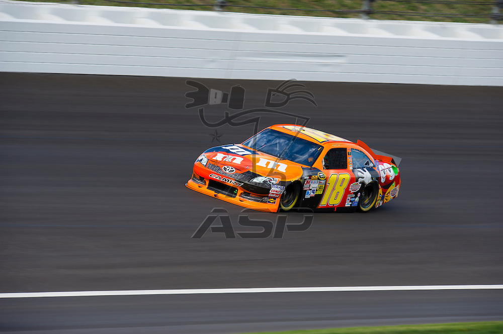 Kansas City, KS - OCT 17, 2012:  The NASCAR Sprint Cup Series Teams take to the track during testing for the Hollywood Casino 400 at Kansas Speedway in Kansas City, KS.