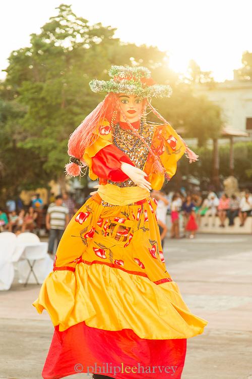 Dancer wearing Gigantona costume in Leon, Nicaragua