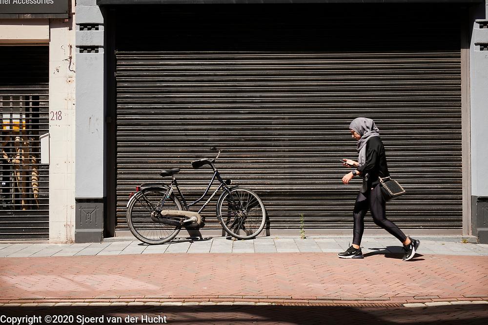 Walking through the streets of Leiden, Netherlands