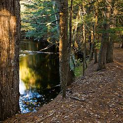 The Pleasant River in Windham, Maine.  Clark Farm.