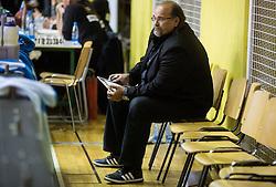 Aleksandar Dzikic, head coach of Krka during basketball match between KK Krka and KK Union Olimpija in Round #7 of Telemach League for Slovenian National Champion 2014/15 on April 18, 2015 in Dvorana Leona Stuklja, Novo mesto, Slovenia. Photo by Vid Ponikvar / Sportida
