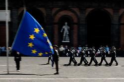 June 2, 2017 - Naples, Italy - 71st Anniversary Foundation Italian Republic in Naples, Italian, on June 2,2017,..Flag-hoisting ceremony whit inter force department in Square the Plebiscito. (Credit Image: © Paolo Manzo/NurPhoto via ZUMA Press)