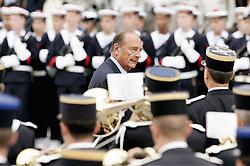 September 21, 2016 - Paris, IDF, France - JACQUES CHIRAC. Ceremonie officielle du 60 eme anniversaire de la liberation de Paris sur le parvis de l'hotel de ville  (Credit Image: © Visual via ZUMA Press)