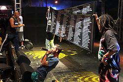 Conecrew Diretoria fazem homenagem às vítimas da tragédia em Santa Maria durante o Planeta Atlântida 2013/RS, que acontece nos dias 15 e 16 de fevereiro na SABA, em Atlântida. FOTO: Marcos Nagelstein/Preview.com