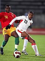 Fotball<br /> 20.11.2007<br /> Angola v Guinea<br /> Foto: Dppi/Digitalsport<br /> NORWAY ONLY<br /> <br /> FOOTBALL - FRIENDLY GAMES 2007/2008 - ANGOLA v GUINEA - 20/11/2007 - EDSON (ANG) / IBRAHIMA DIALLO (GUI)