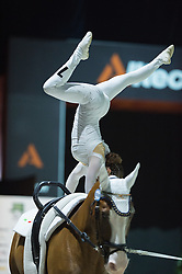 Anna Cavallaro, (ITA), Harley, Nelson Vidoni - Individuals Women Final Vaulting - Alltech FEI World Equestrian Games™ 2014 - Normandy, France.<br /> © Hippo Foto Team - Jon Stroud<br /> 05/09/2014