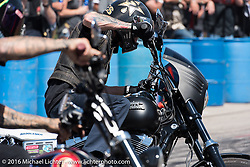 Unknown Industries perform downtown during the annual Sturgis Black Hills Motorcycle Rally.  SD, USA.  August 7, 2016.  Photography ©2016 Michael Lichter.