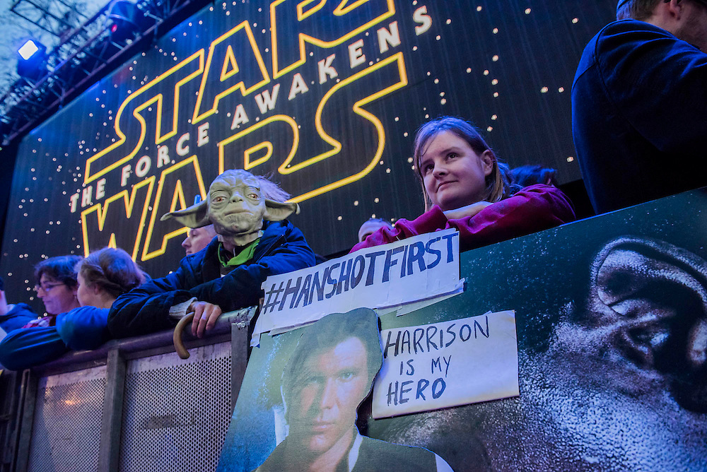 A big Harison ford fan - The European Premiere of STAR WARS: THE FORCE AWAKENS - Odeon, Empire and Vue Cinemas, Leicester Square, London.