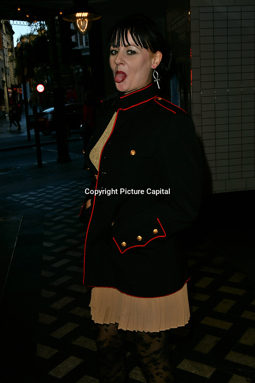 Aleah Leigh of Equal Magazine alternative Fashion Week arrivers at Eleven Film Premiere at Picture House Central, Piccadilly Circus on 10 November 2018, London, Uk.
