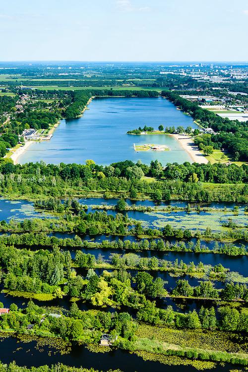 Nederland, Utrecht, Maarssen, 10-06-2015; Maarsseveen en Maarsseveense plassen. De plassen zijn ontstaan ten gevolg van zandwinning en in het kader van ruilverkaveling tijdens de wederopbouwperiode.<br /> Former marsh and bog, recreational lake near Utrecht.<br /> <br /> luchtfoto (toeslag op standard tarieven);<br /> aerial photo (additional fee required);<br /> copyright foto/photo Siebe Swart