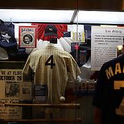 Memorabilia on display inside the Yankee Museum at Yankee Stadium before the New York Yankees V Cincinnati Reds Baseball game at Yankee Stadium, The Bronx, New York. 19th May 2012. Photo Tim Clayton