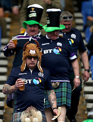 Scotland fans in the stands before the NatWest 6 Nations match at the Stadio Olimpico, Rome.