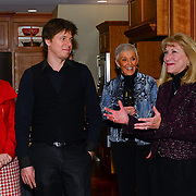 Joshua Bell at a party after he and Sam Haywood perform at The Music Hall in Portsmouth, NH on March 1, 2013.