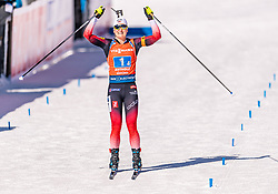 22.02.2020, Suedtirol Arena, Antholz, ITA, IBU Weltmeisterschaften Biathlon, Damen, 4 x 6 km Staffel, im Bild Marte Olsbu Roeiseland (NOR) // Marte Olsbu Roeiseland of Norway during women's 4 x 6 km Relay of IBU Biathlon World Championships 2020 at the Suedtirol Arena in Antholz, Italy on 2020/02/22. EXPA Pictures © 2020, PhotoCredit: EXPA/ Stefan Adelsberger