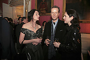 MANDANNA RUANE, TEDDY ST. AUBYN AND CHARLOTTE SKENE-CATLING , Literary Review's Bad Sex In Fiction Prize.  In & Out Club (The Naval & Military Club), 4 St James's Square, London, SW1, 29 November 2006. <br />Ceremony honouring author who writes about sex in a 'redundant, perfunctory, unconvincing and embarrassing way'. ONE TIME USE ONLY - DO NOT ARCHIVE  © Copyright Photograph by Dafydd Jones 248 CLAPHAM PARK RD. LONDON SW90PZ.  Tel 020 7733 0108 www.dafjones.com