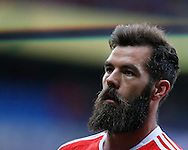 Joe Ledley of Wales looks on.Wales v Georgia , FIFA World Cup qualifier, European group D match at the Cardiff city Stadium in Cardiff on Sunday 9th October 2016. pic by Andrew Orchard, Andrew Orchard sports photography
