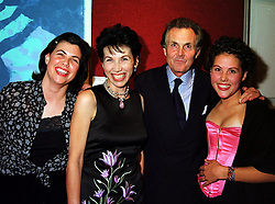 Left to right, the HON.KIRSTIE ALLSOPP, LORD & LADY HINDLIP and the HON.SOPHIE ALLSOPP, at an exhibition in London on 20th September 1999.MWN 72
