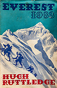 Everest 1933, Hugh Ruttledge, British Everest Expedition, book cover, 1936.