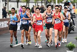 TAICANG, May 5, 2018  Players compete during the men's 10km competition at the IAAF World Race Walking Team Championships Taicang 2018 in Taicang, east China's Jiangsu Province, May 5, 2018. (Credit Image: © Ji Chunpeng/Xinhua via ZUMA Wire)