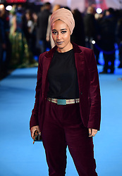 Mariah Idrissi attending the Aquaman premiere held at Cineworld in Leicester Square, London.