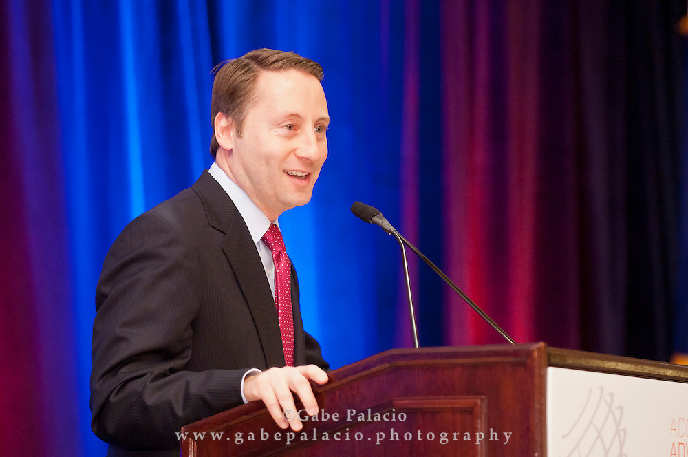 County Executive Honorable Robert P. Astorino delivers his State of the County address at the Westchester County Association breakfast on January 12, 2012 at the Westchester Marriott Hotel in Tarrytown, NY..(photo by Gabe Palacio)
