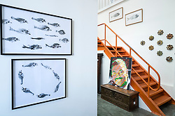 Interior of Showcase gallery at  at Alserkal Avenue warehouses in Al Quoz district in Dubai United Arab Emirates