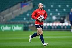 Dan Robson of England in action during the pre-match warm-up - Mandatory byline: Patrick Khachfe/JMP - 07966 386802 - 14/11/2020 - RUGBY UNION - Twickenham Stadium - London, England - England v Georgia - Autumn Nations Cup