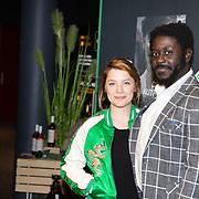 NLD/Hilversum/20191202 - Premiere Telefilms 2019, Sarah Bannier en Andre Dongelmans
