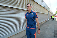 Marinus Dijkhuizen, the Brentford head coach arrives at Griffin Park before k/o. Skybet football league Championship match, Brentford v Ipswich Town at Griffin Park in London on Saturday 8th August 2015.<br /> pic by John Patrick Fletcher, Andrew Orchard sports photography.