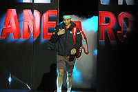 Tennis - 2018 Nitto ATP Finals at The O2 - Day Two<br /> <br /> Mens singles : Kevin Anderson (RSA) v Kei Nishikori (JPN)<br /> <br /> Kei Nishikori  enters the arena to the wrong name, saying Kevin Anderson<br /> <br /> COLORSPORT/ANDREW COWIE